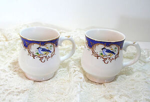 Blue-Bird-Mugs-Grace-Teaware-A1863-Set-of-Two