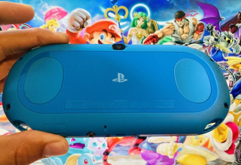 Aqua Blue Sony PlayStation PS Vita Slim PCH-2000 PSV Portable Console + Charger