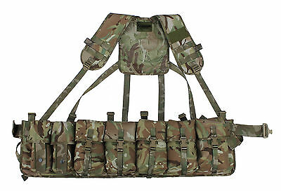 100/% UK Manufactured UKOM Olive Green Military Roll Pin Belt Tactical