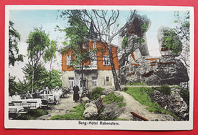 AK RABENSTEIN Böhmen um 1930 Berghotel Rabenstein   ( 16611