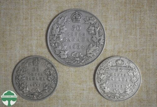 3 CANADIAN SILVER COINS