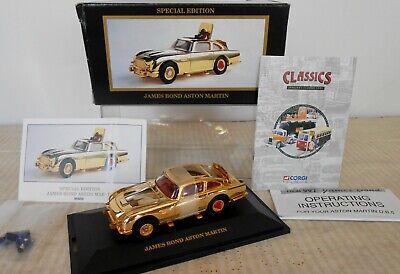 CORGI JAMES BOND ASTON MARTIN 96656 - SPECIAL EDITION GOLD CAR   3 PICTURES