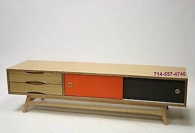 danish mid century modern tv media cabinet credenza low sideboards eames wegner