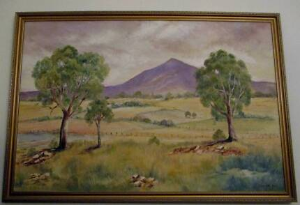 Original Australian landscape oil painting by Ada Wright