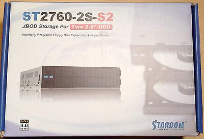 "Raidon ST2760-2S-S2, 2,5"" JBOD RAID, Stardom, Modul für 2x 2,5"" SATA Festplatten"