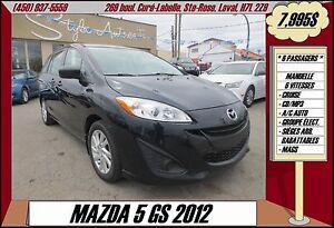 2012 Mazda MAZDA5 GS A/C CRUISE MAGS