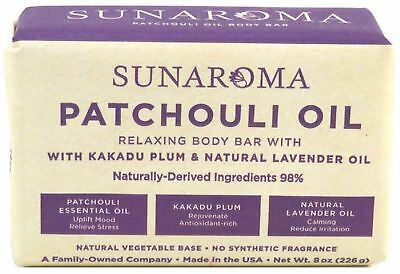 Sunaroma Patchouli Oil Relaxing Body Bar, 8 oz (Pack of 3)