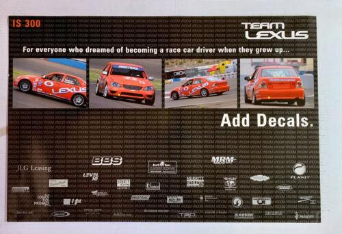 Team Lexus IS300 race poster GrandAm Series