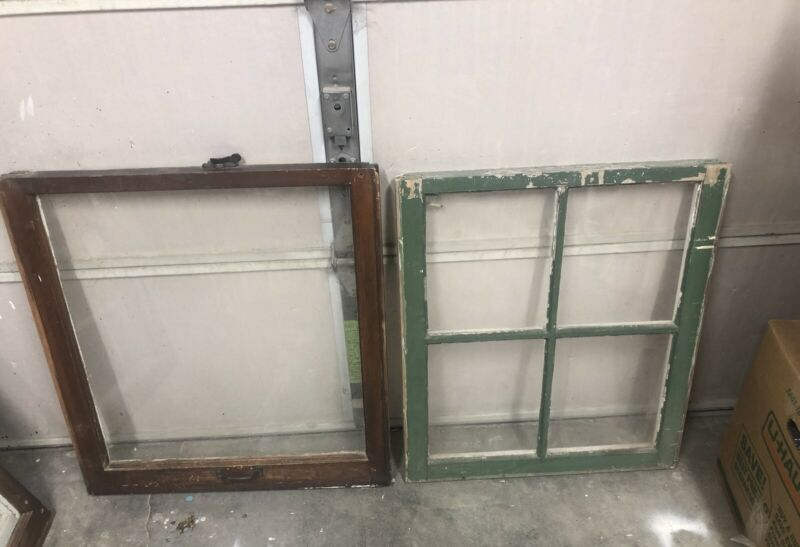 Vintage Wood Windows Single Pane Wood Window Or 4 Pane Wood Window Old Windows