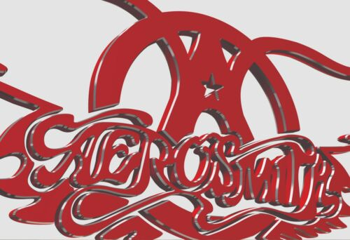 Aerosmith Logo  Photo High quality Reproduction Free Domestic Shipping.