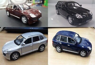 "4 PC Set: New 5"" Kinsmart Porsche Cayenne Turbo Diecast Model SUV Toy 1:38"