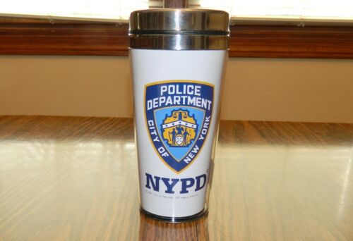 NYPD Travel Mug Officially Licensed New York Police Dept. Coffee Cup