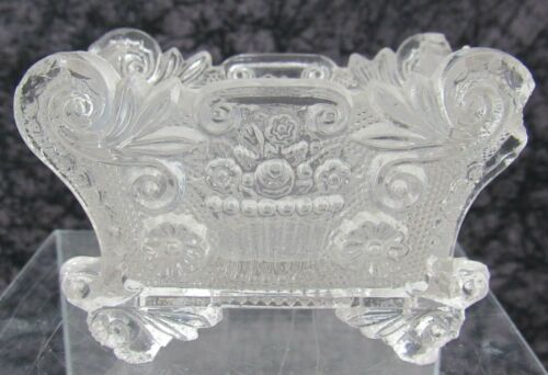Antique Boston & Sandwich Lacy Pressed Glass Salt Neale BF 1b #2