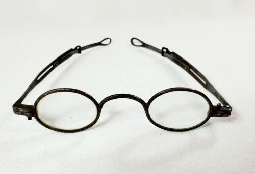 Antique Eyeglasses 1800s Iron w Adjustable Temples Civil War Era