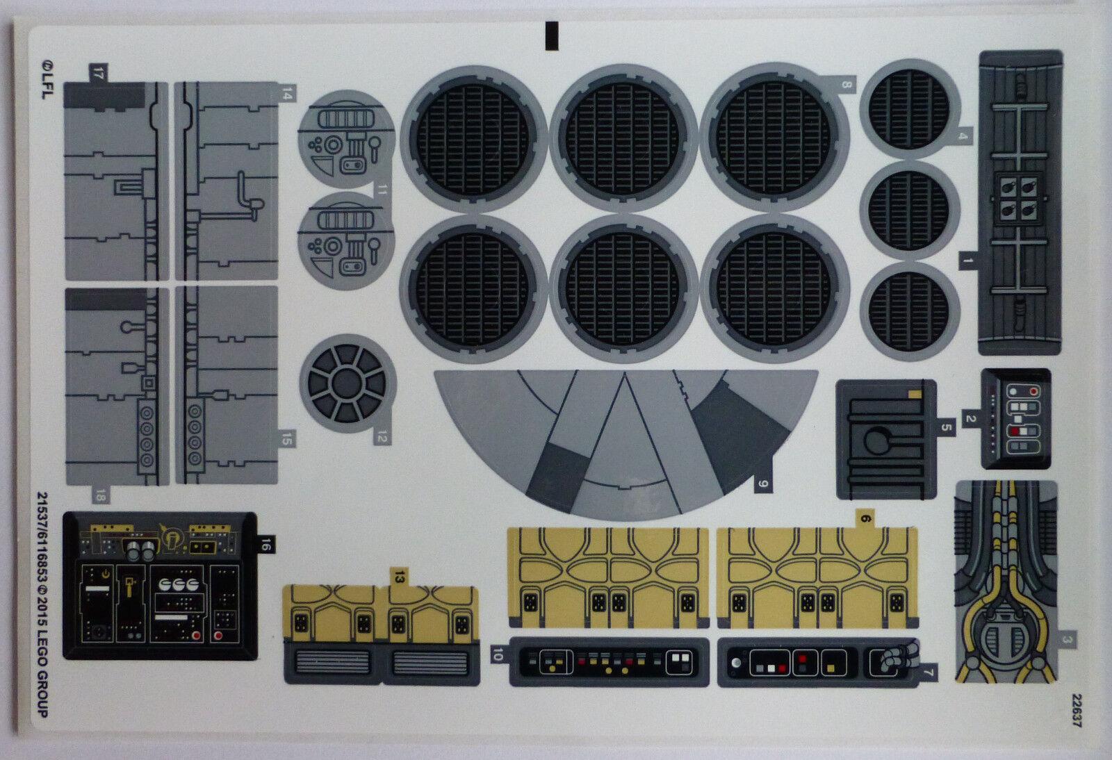 LEGO® Star Wars™ Aufkleber Sticker für 75105 Millennium Falcon™ NEU