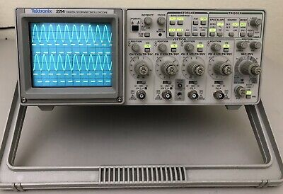 Tektronix 2214 Four Channel Analog Digital Oscilloscope 20 Mhz
