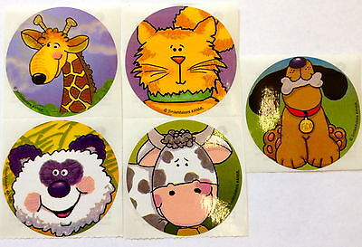 15 Jungle Zoo Farm Animal Stickers Party Favors Teacher Supply Cat Dog Giraffe