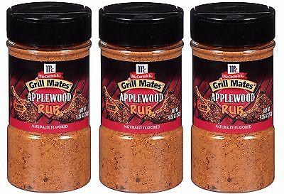 (McCormick Grill Mates Applewood Smoked Salt Seasoning  Dry Rub Pork BBQ Ribs Rib)
