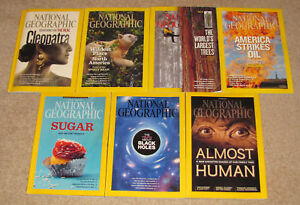 7 Issues Of National Geographic Magazine From 2011-2015