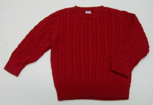 Boys XS (3-4) Gymboree Pullover Sweater Fire Truck Chief Line EUC