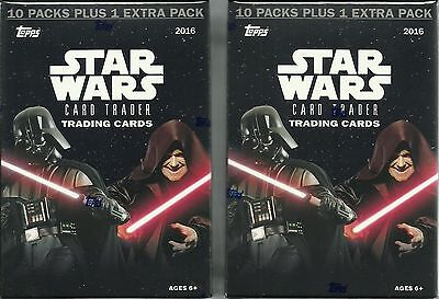 (2) 2016 Topps Star Wars Card Trader New Retail Value/Blaster Box LOT =132 Cards