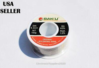 0.3mm 30g 6337 Rosin Core Flux Roll Soldering Solder Wire Solder Rework - Usa