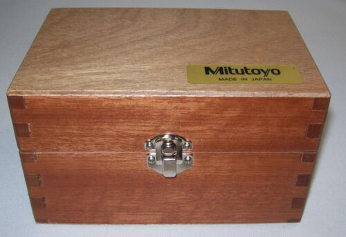 Mitutoyo 153-302 Large Thimble Micrometer Head Case only Excellent Condition