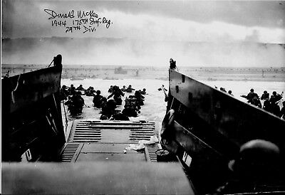 DON MCKEE 29TH INFANTRY DIVISION 175TH REGIMENT D-DAY MEDIC RARE SIGNED PHOTO