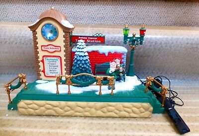 NEW BRIGHT HOLIDAY EXPRESS MUSICAL CHRISTMAS TRAIN STATION FROM SET 386