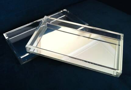 WEST ELM Mirrored Acrylic Tray - $42 each - RRP $59 Bondi Junction Eastern Suburbs Preview