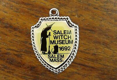 WEEN MASSACHUSETTS SALEM WITCH CAT MUSEUM SHIELD charm #E4 (Salem Massachusetts Halloween)