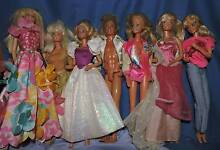 7 barbie dolls from 1980's maybe 1990's Port Macquarie 2444 Port Macquarie City Preview