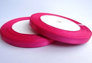 1 x reel 6mm satin ribbon 25 yard / 22.5m choose colour R1