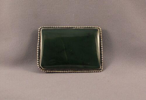 Old Pawn Dark Green Jade Belt Buckle