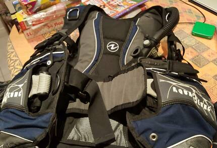 SCUBA diving complete kit, wetsuit, BCD, fins etc