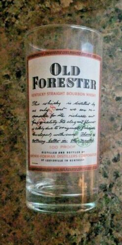 Kentucky Straight Bourbon Whisky Glass Old Forester Highball Glass 5.5""