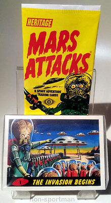 MARS ATTACKS TOPPS HERITAGE SET OF 55 CARDS, NEW UNIVERSE SET, DELETED SET++