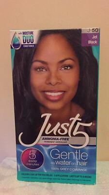 Just 5 Women's 5 Minute Permanent Hair Color J50 Jet Black Kit Just 5 Colorant