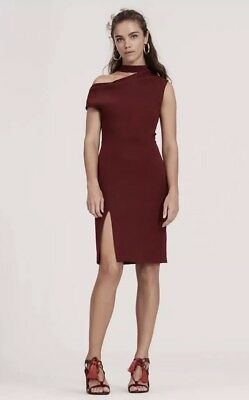 NWT Finders Keepers Australian Fashion Label The Message Midi Berry Dress Size M