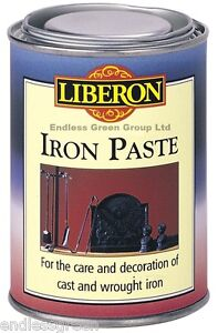 Liberon Iron Paste ( Black lead ) for cast & wrought iron fireplace & grates etc