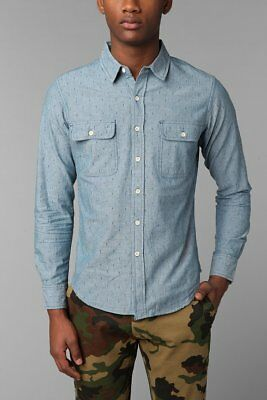 Obey Mens Ventura Long Sleeve Woven Shirt