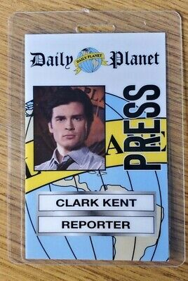 Superman Smallville ID Badge-Clark Kent Reporter costume prop cosplay Style A