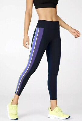 Fabletics, Large, High Waisted Trinity Run Side-Striped 7/8 Leggings