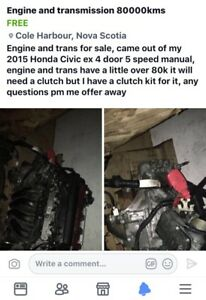Honda engine and trsnsmissiom, brand new clutch kit