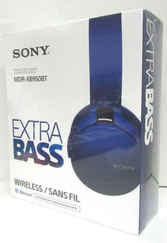 Sony Extra Bass Bluetooth Wireless Headphone MDR-XB950BT - Blue