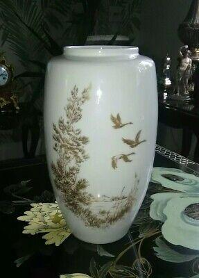 Vintage Alka Kunst Alboth & Kaiser gilded porcelain vase
