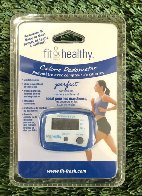 Fit & Fresh Fit & Healthy Calorie  Pedometer. Sealed. NEW