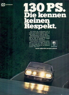 Opel-Commodore-1969-Reklame-Werbung-genuine Advert-La publicité-nl-Versandhandel