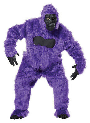 Purple Gorilla Ape Monkey Suit Adult Costume (Gorilla Suit Costume)