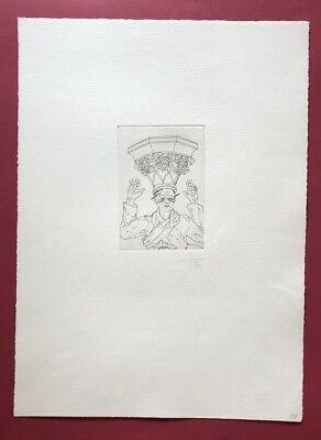Jonas Hafner, Schtoima, Radierung, 1974, handsigniert und datiert